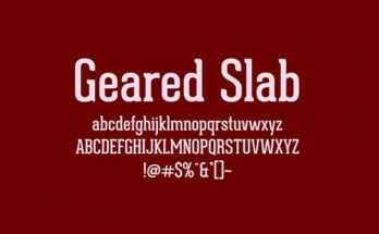 Geared Slab Font Download