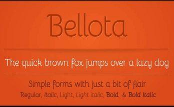 Bellota Font Family