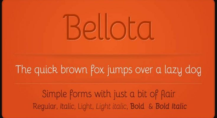 Bellota Font Free Download [Direct Link]