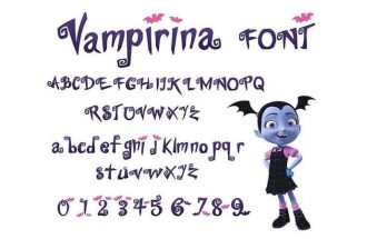 Vampirina Font Free Download [Direct Link]
