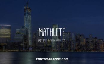Mathlete Font Free Download [Direct Link]