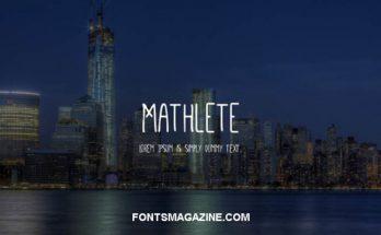 Mathlete Font Free Download [Direct Link]