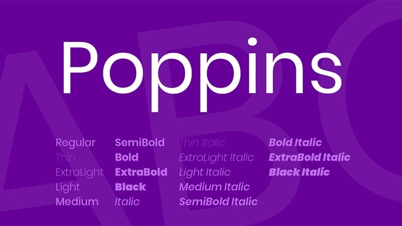 Poppins Font Free Download [Direct Link]