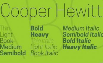 Cooper Hewitt Font Free Download [Direct Link]