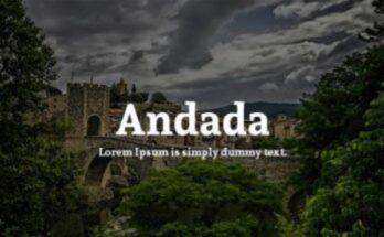 Andada Font Free Download [Direct Link]