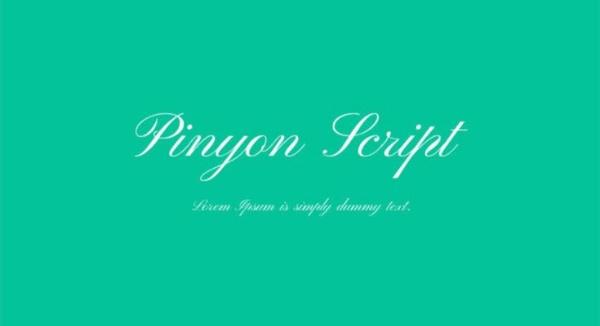 Pinyon Script Font Free Download [Direct Link]