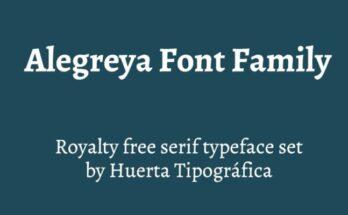 Alegreya-Font-Family-Free-Download