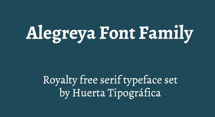 Alegreya Font Free Download