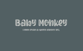 Baby Monkey Font Free Download
