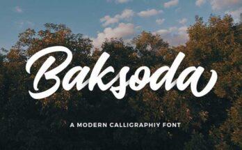 Baksoda Script Font Free Download