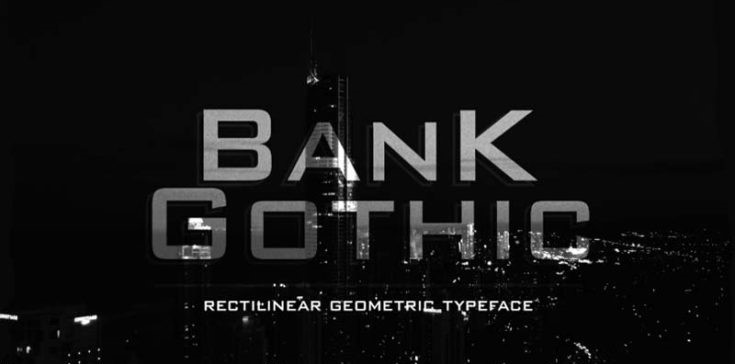 Bank Gothic Font Free Download
