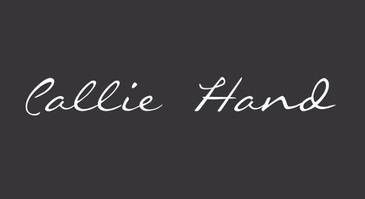 Callie Hand Font Free Download