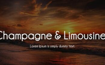 Champagne And Limousines Font Free Download