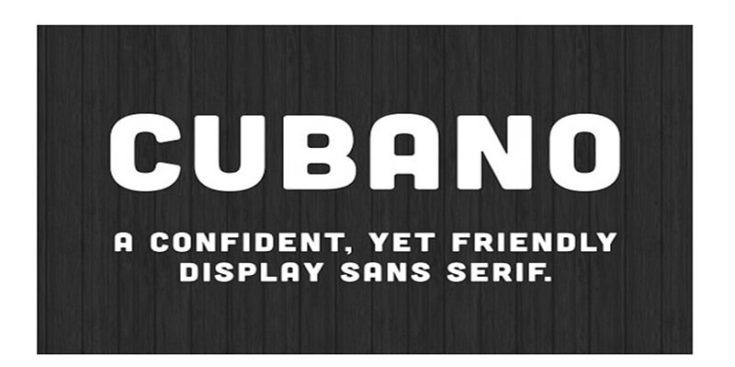 Cubano Family Font Free Download