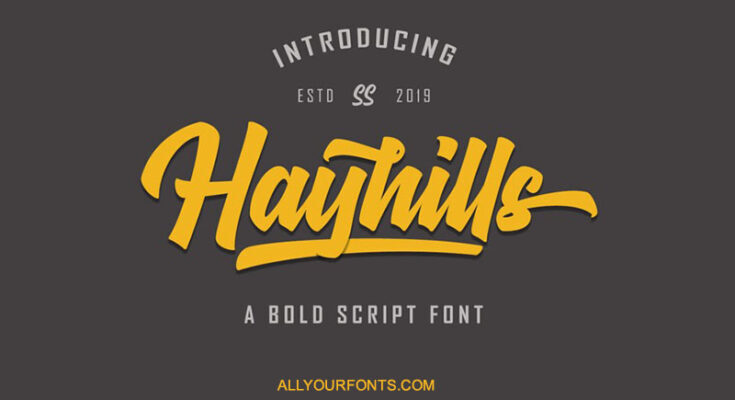 Hayhills Font Free Download