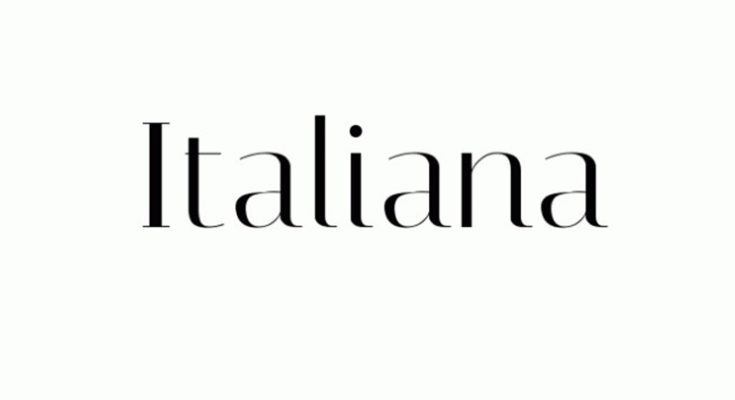 Italiana Font Free Download