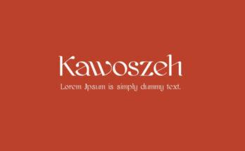 Kawoszeh Font Free Download