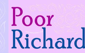 Poor-Richard-Font-Family-Free-Download