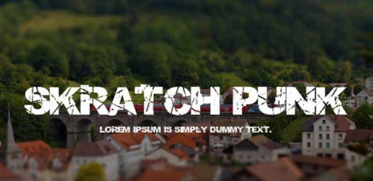 Skratch Punk Font Free Download