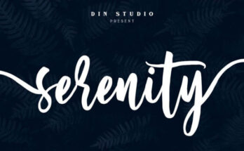 Serenity Font Free Download