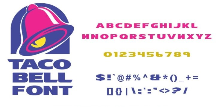 Taco Bell Font Free Download