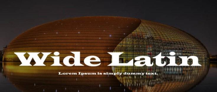 Wide Latin Font Free Download