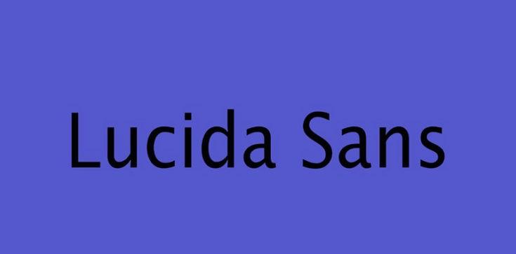 Lucida Sans Font Free Download